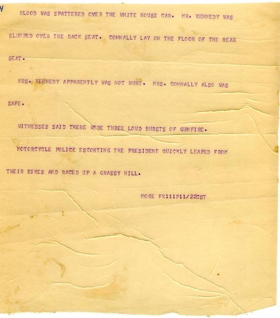 President Kennedy Shot