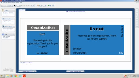 raffle ticket software screen shot